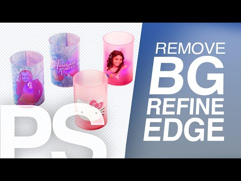 How to Remove Background with Refine Edge in Photoshop | Basic Refine Edge | Cut out background