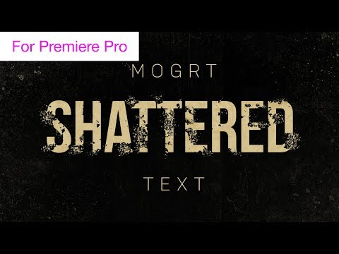 Shattered Text Effect - Motion Graphics Template