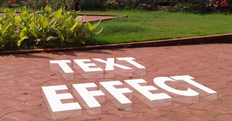 3D Text on Floor