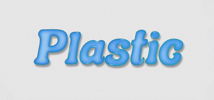 Glossy plastic text effect