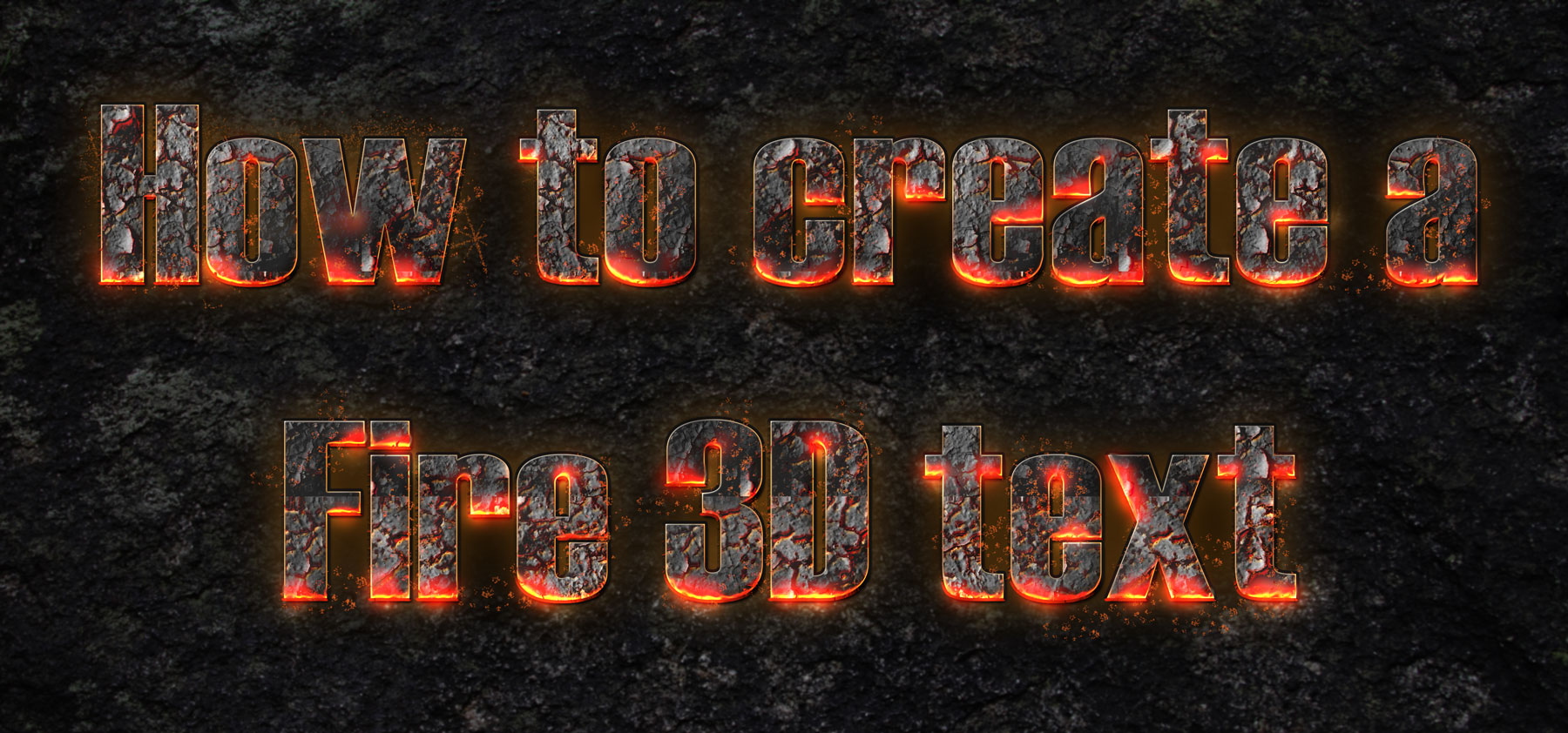 How to-create-a-Fire-3D-text