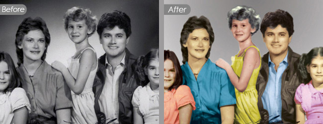 Old and Black & White Color Correction and Restoration