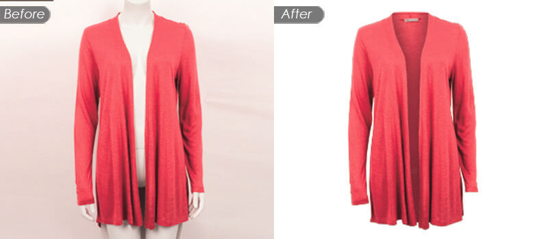 Image Background Removal Service with Photoshop Ghost Mannequin Effects