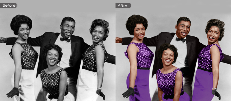 Black & White colorizing & photo Restoration services
