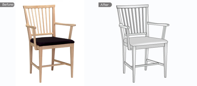 Clipping Path Services for Basic Shapped Objects or Subjects