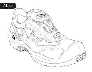 line drawing-After_shoe