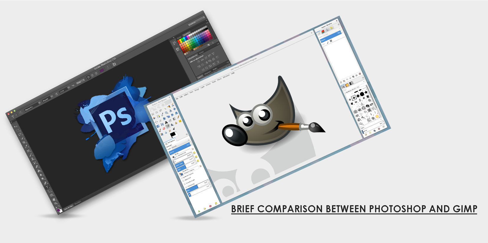 adobe photoshop vs gimp brief comparison on their utility