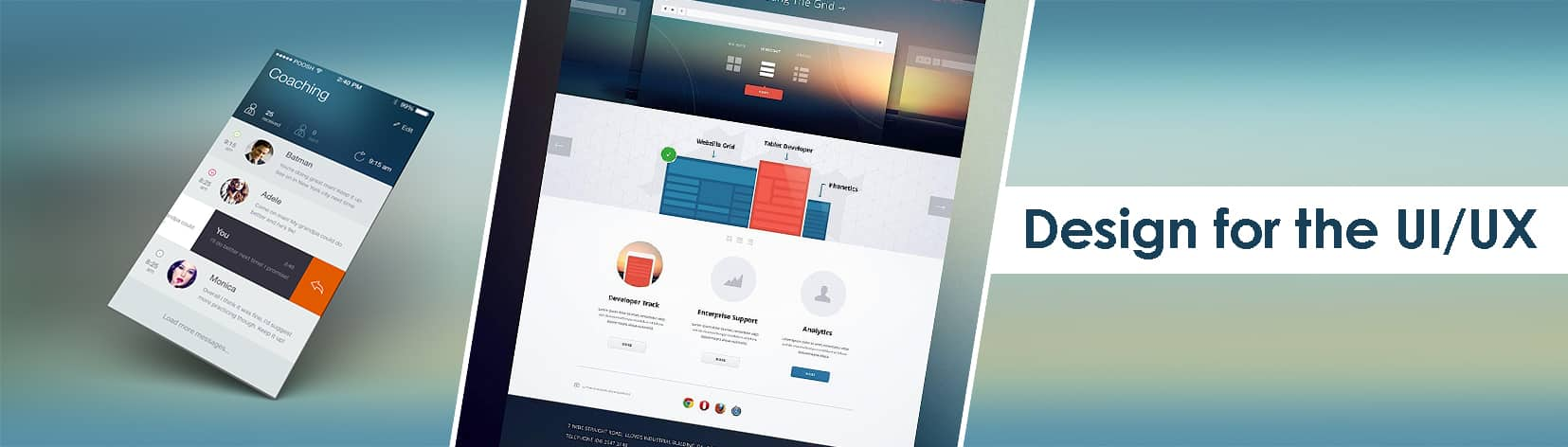 Design for the UI/UX Design for the web