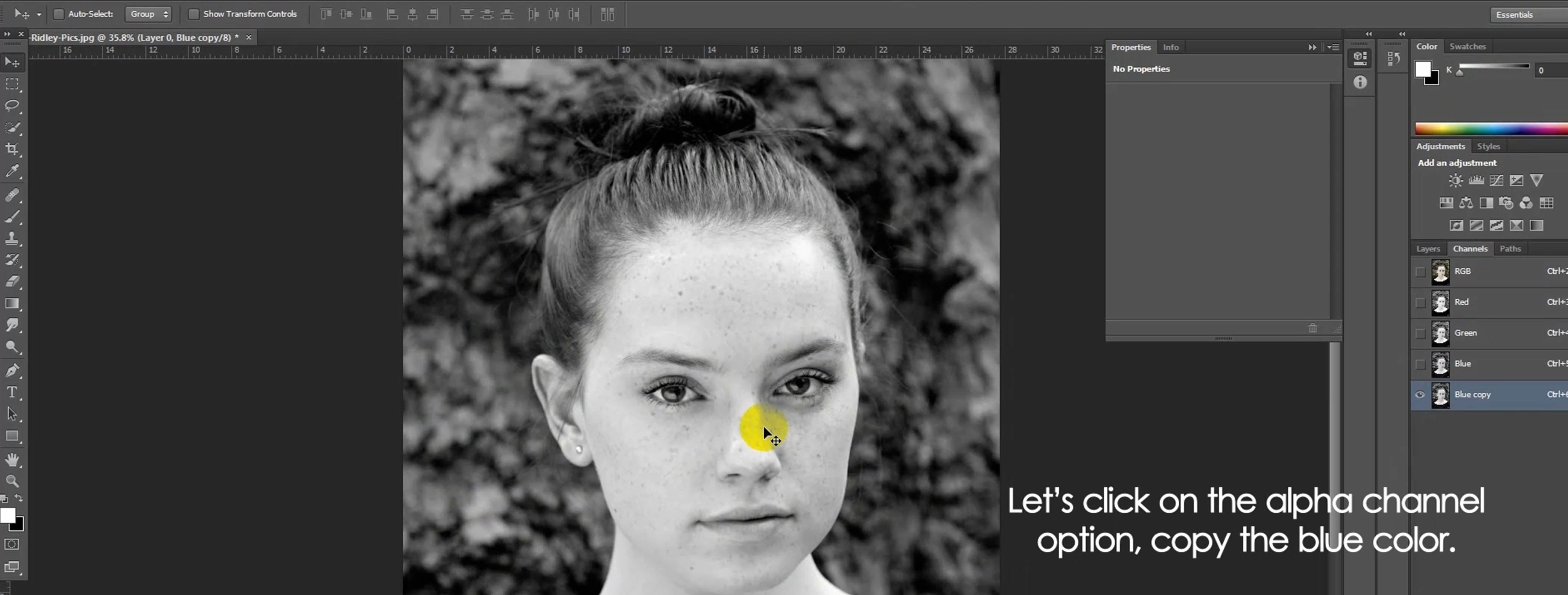 Portrait retouching tutorial in photoshop cs6 color experts ill try to remove these spots and make it more gorgeous by portrait retouching method applying many photoshop tools and options baditri Choice Image