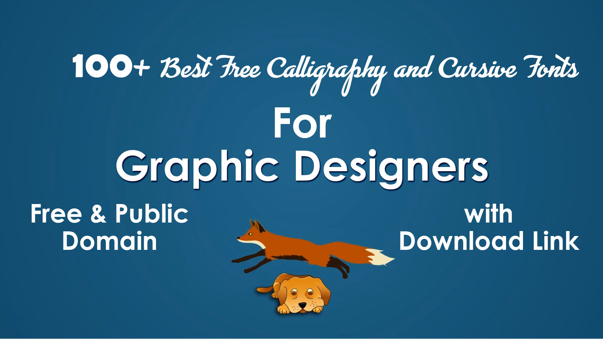 List Of 100 Best Free Public Domain Calligraphy Script And Cursive Fonts For Graphic Designers