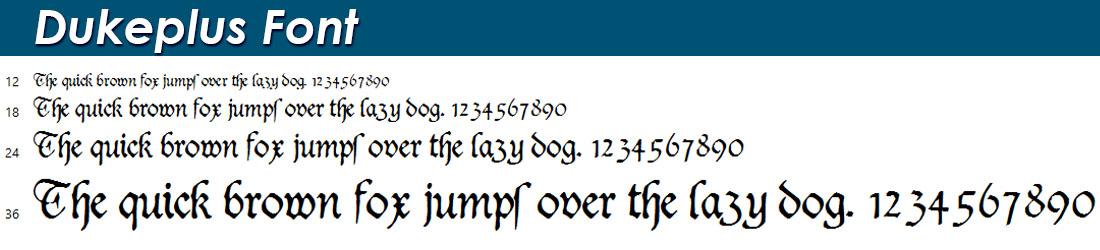 Dukeplus Font