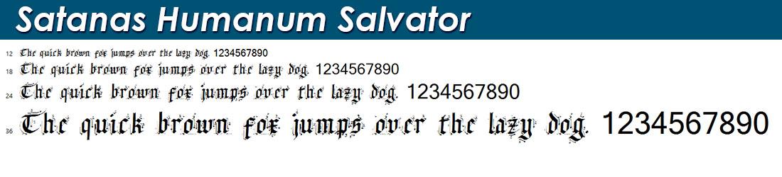 Satanas Humanum Salvator