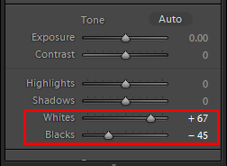 lightroom tone correction