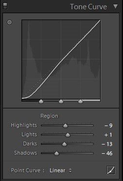 lightroom tone curve