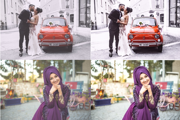 Color Correction for Wedding Photos
