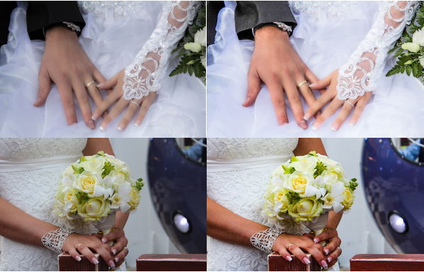 Wedding Photo Skin Tone Correction