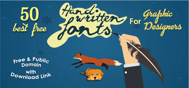 50 best Free Handwritten fonts