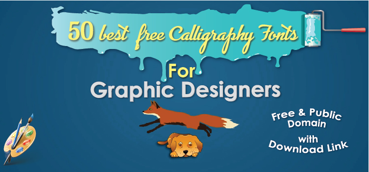Best Free Calligraphy Fonts Banner Image