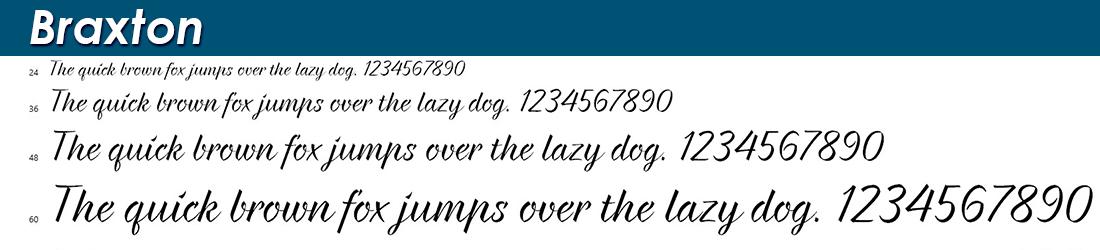 Braxton fonts
