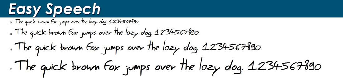 Easy Speech Font