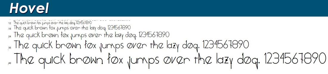 Hovel fonts