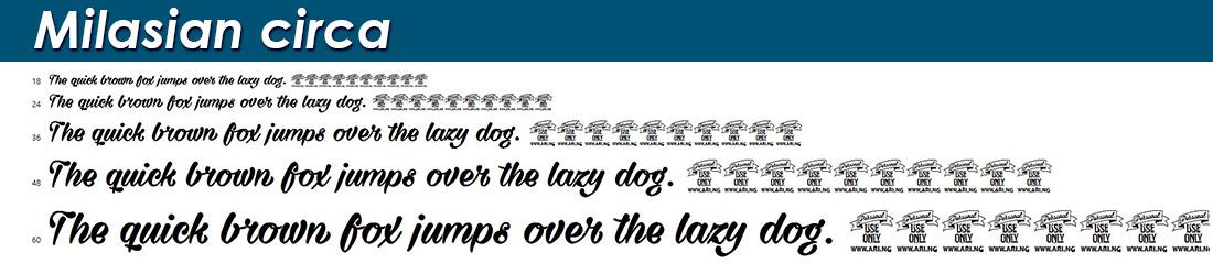 Milasian circa fonts