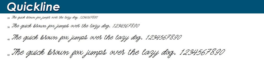 Quickline font
