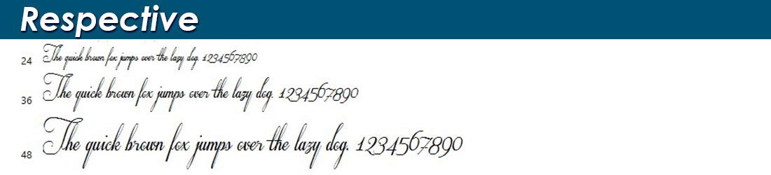 Respective fonts