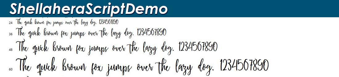 Shellahera font Image