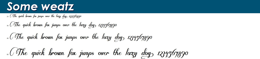 Some weatz fonts