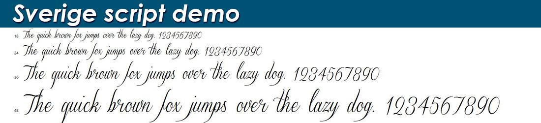 Sverige script demo fonts