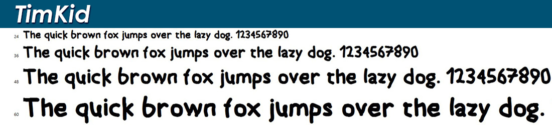 TimKid font