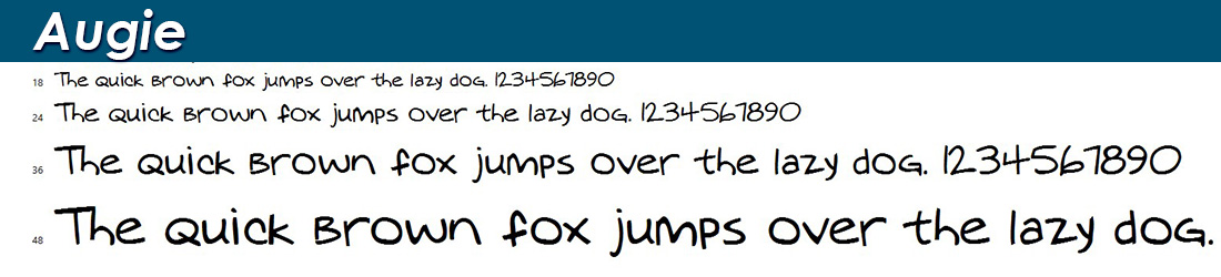 augie font