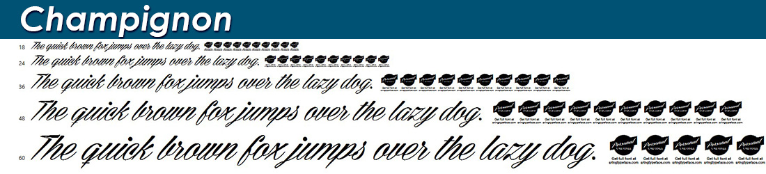 champignon fonts