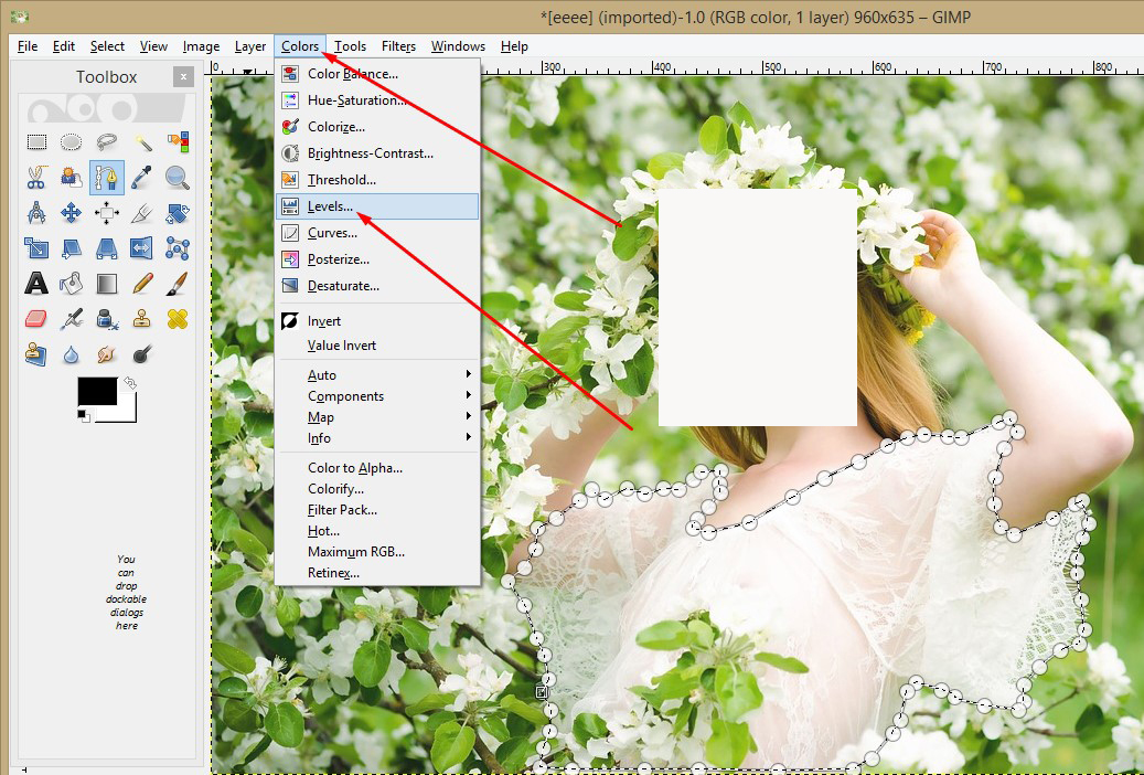 See through effects and remove clothes using gimp tutorial 5 then click on the colors option from the top menu bar and go to levels click on it ccuart Image collections
