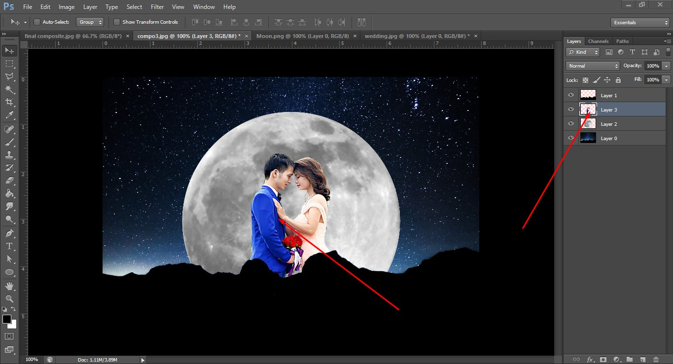 couple image compositing