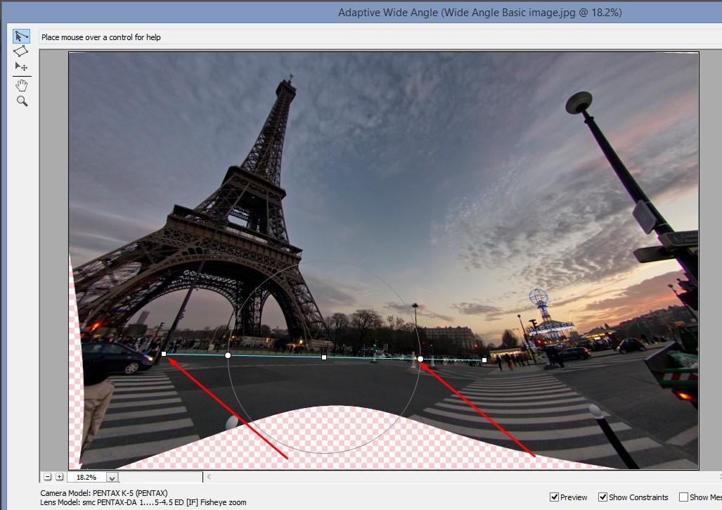 Perspective Correction Tutorial: Fish Eye Correction using Photoshop