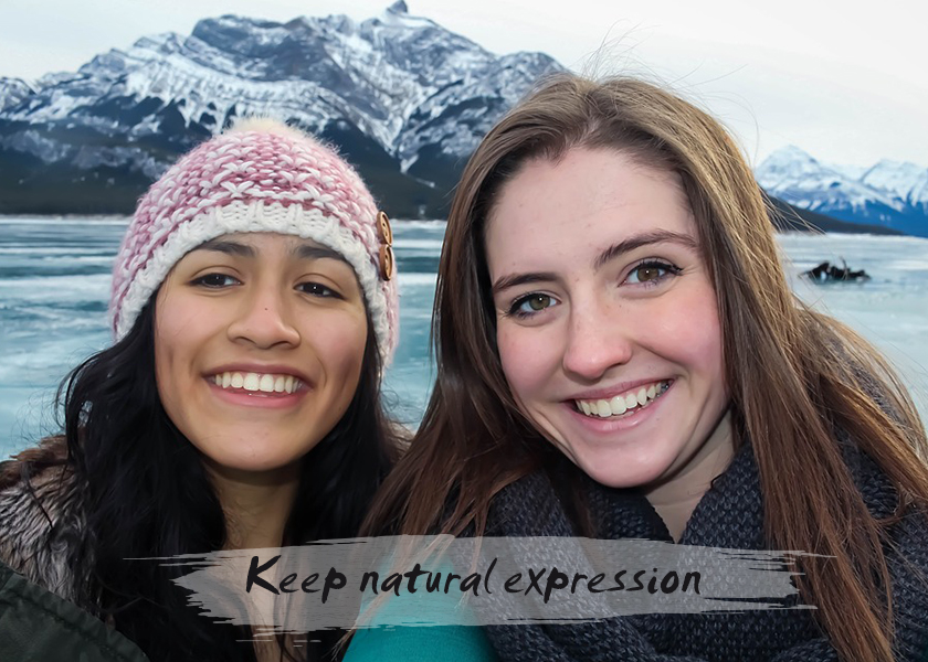 Keep natural expression