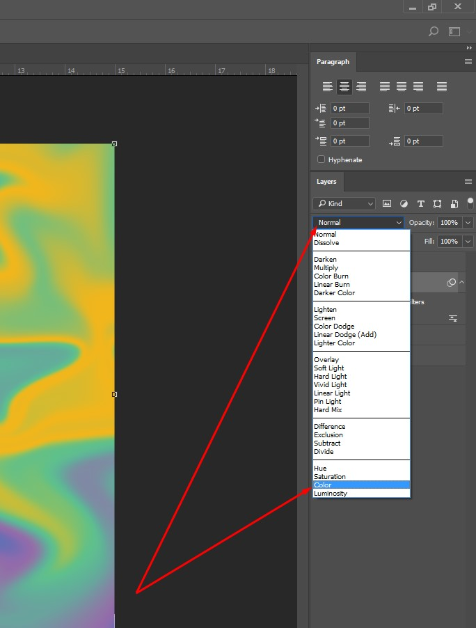 Gradient and texture blending