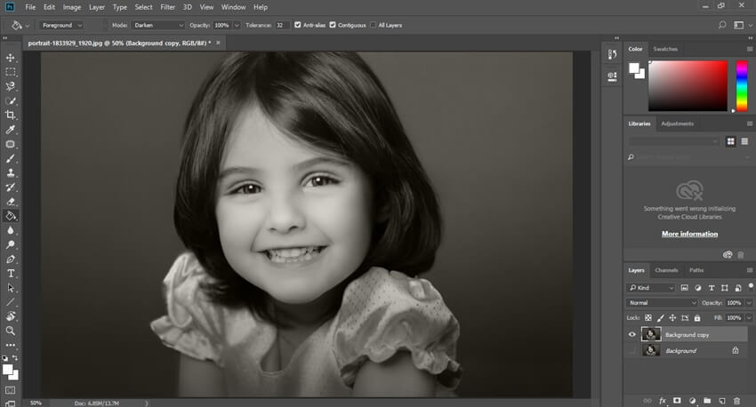 open your image in Photoshop