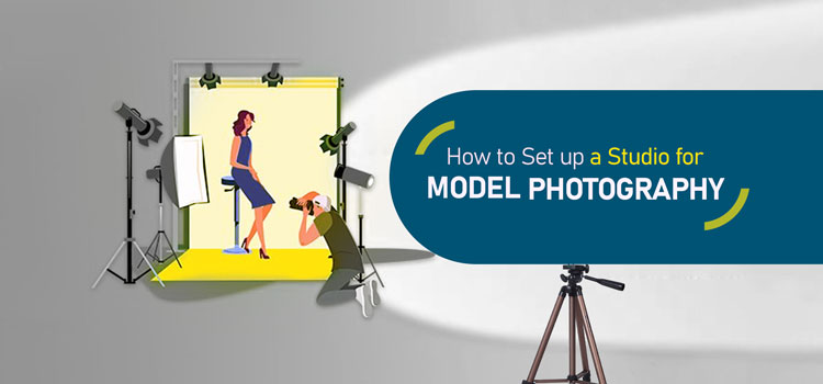 Set up a studio for model photography