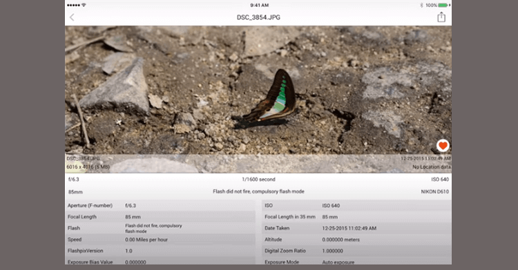EXIF data on iOS