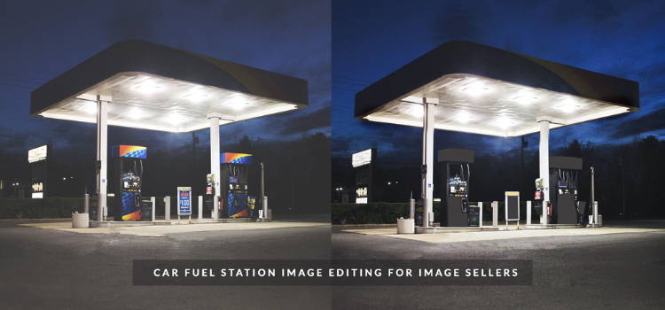 Car-Fuel-station-photo-editing