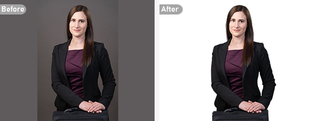 Photo Background Removal Service with Simple Shapes